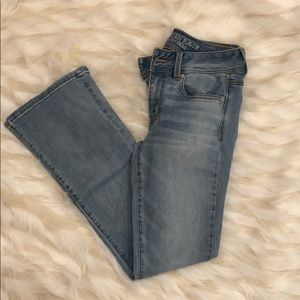 Kick boot flare American eagle jeans